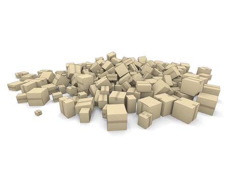 Cardboard Cartons Stock Photo