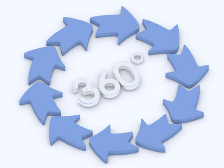 360 Degrees Thinking Stock Photo