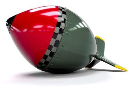 Big Retro Bomb Stock Photo