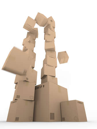 Falling Boxes Stock Photo - 16910304
