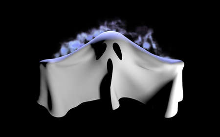 Flying Ghost Stock Photo