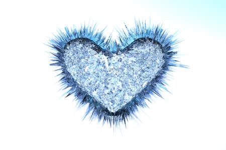 Icy Heart Stock Photo