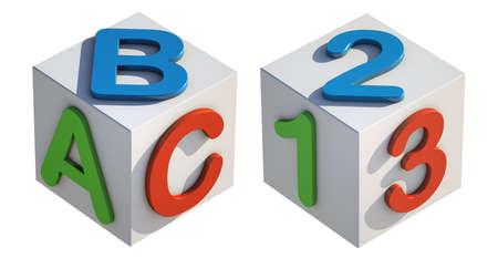 ABC 123 Toy Blocks Stock Photo - 17263841