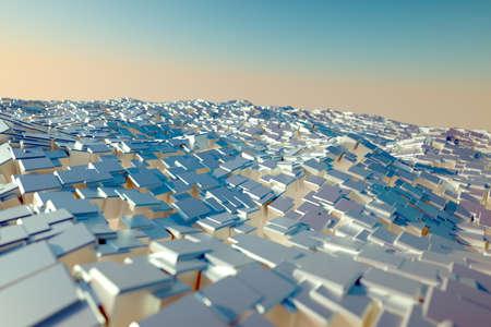 Sea of cubes Stock Photo