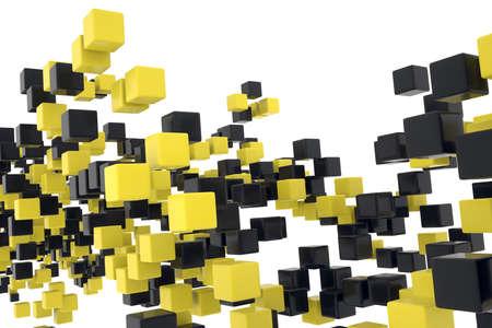 Floating Cubes Stock Photo - 18650700