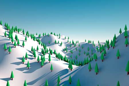Snowy Hills Stock Photo - 18650715