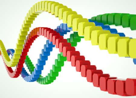 hundreds: Colorful waves of blocks