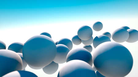 shadowed: White spheres drifting in the sky