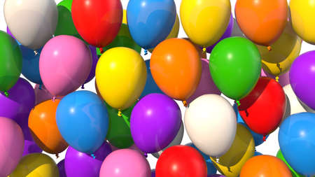 Colored balloons filling up screen
