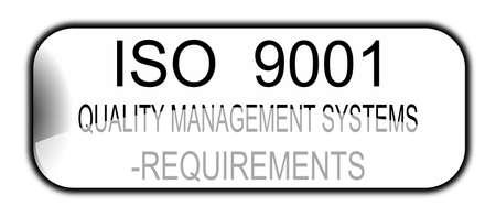 iso 9001 sign international standards Vector