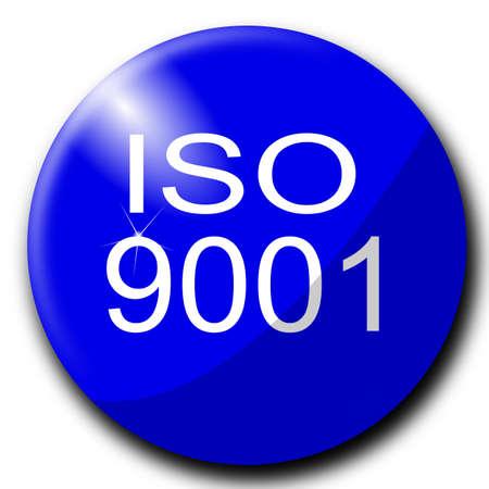 zertifizierung: ISO 9001 Zeichen internationalen Standards Illustration