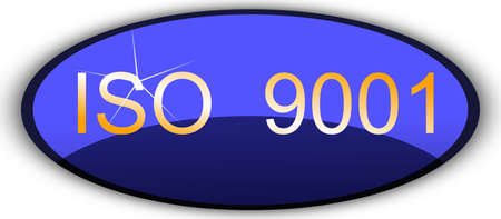 iso 9001 sign Vector