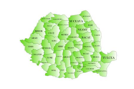 kaart van Roemeni