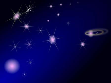 overnight: stelle Vettoriali