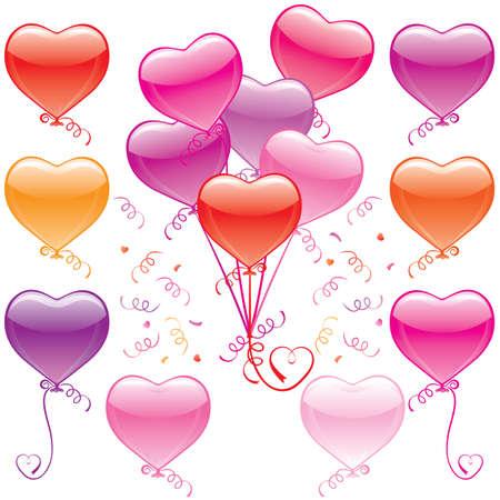 Heart Balloon Bouquet Vector