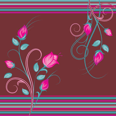Pink Flower bouquets Vector