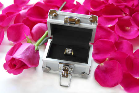 Engagement Ring inside a Deal or No Deal type of case