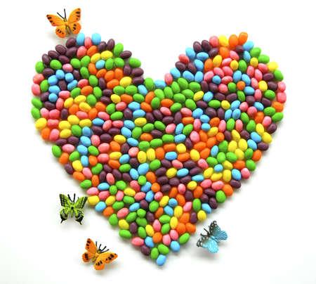 jellybean: Jellybean heart with butterflies