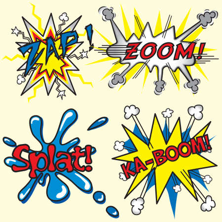 zoom: zap, zoom, splat, ka-boom! Illustration