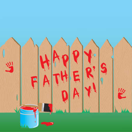 paint can: Fathers Day Fence with room for your type