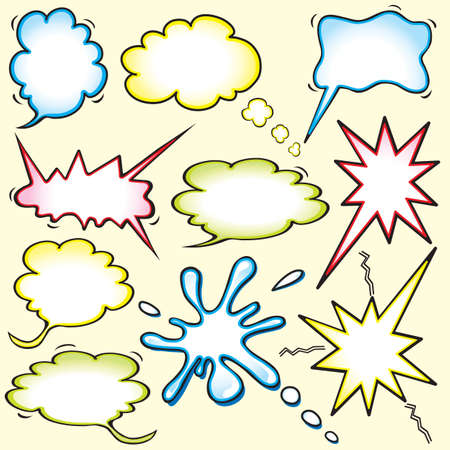 De c�mics inspirados burbujas de pensamiento Foto de archivo