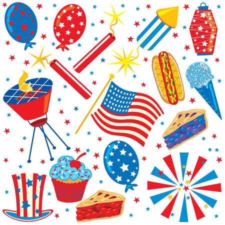 Patriotic Clip art Party Elements photo