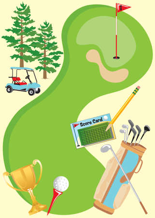golfcourse: Golf Invitation Poster. Great for party or tournament, with room for type