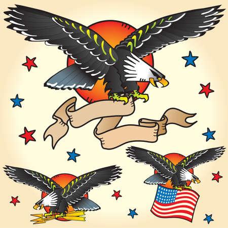 sailor: Tatuajes Eagle Vectores