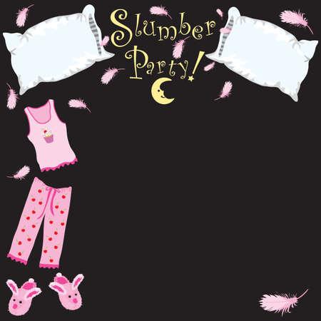 soir�e pyjama: Parti de sommeil invitation Illustration