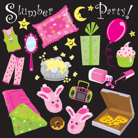 Party invitation for a sleep over party Vector
