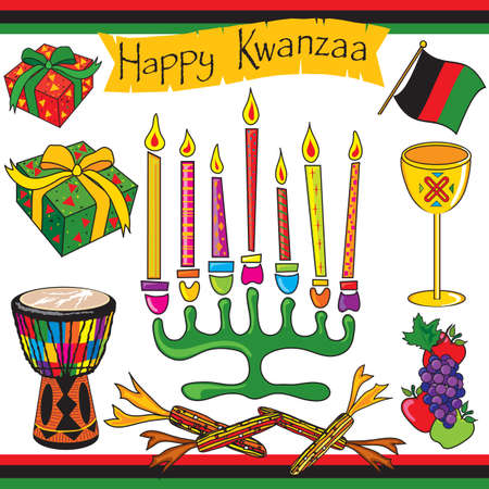 Kwanzaa clipart elements and icons Stock Vector - 5882519