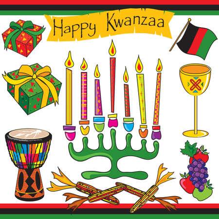 kwanzaa: Kwanzaa clipart elements and icons