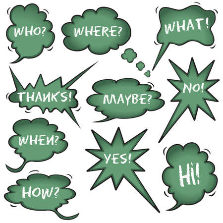 Chalkboard Speech Bubbles Vector