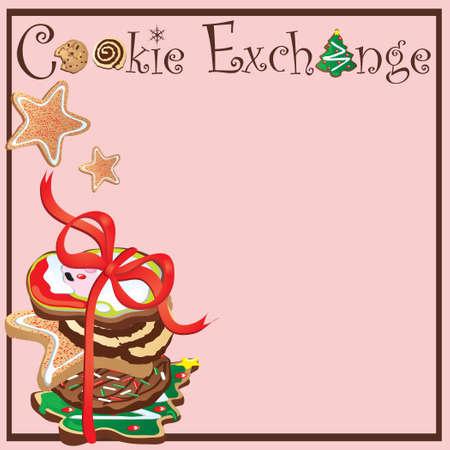 galletas de navidad: Invitaci�n para una parte de Exchange de la cookie