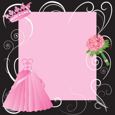 prom queen: La Quinceanera, marriage  or Sweet sixteen party invitation