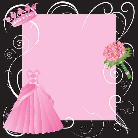 diadema: La Quinceanera, matrimonio o dulces diecis�is partido invitaci�n Vectores