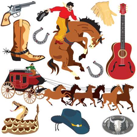 Iconos de im�genes predise�adas de Wild West