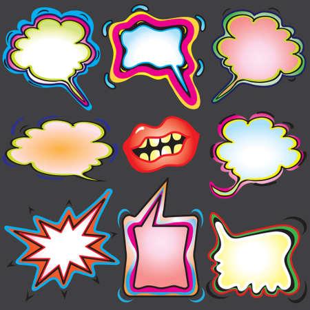 Besproeien distel graffiti gedachte en van meningsuiting bubbles