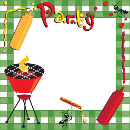 barbecue: Picnic and BBQ Invitation