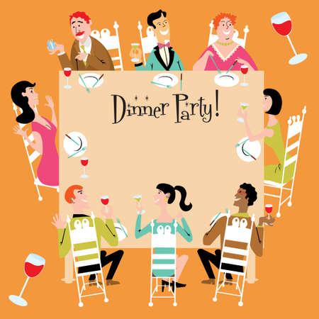 Dinner Party Invitation  Vector