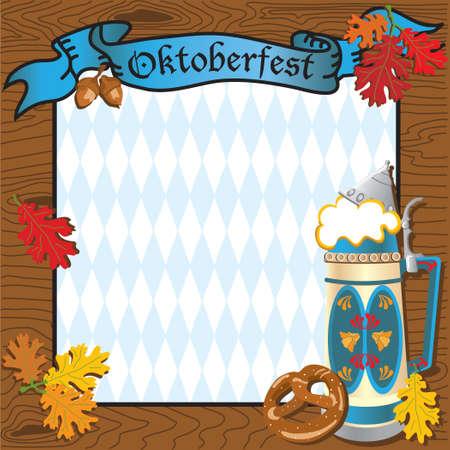 Invitaci�n a fiesta Oktoberfest  Vectores