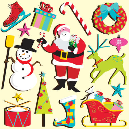 Christmas Clipart Stock Vector - 8116281