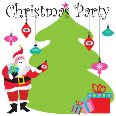 Christmas Party Invitation with room for your type Stock Vector - 8176676