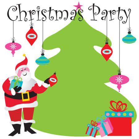 Einladung zur Weihnachten mit Raum für Ihren Typ Standard-Bild - 8176676