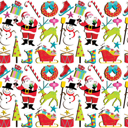 Christmas Retro Wallpaper Stock Vector - 8245784