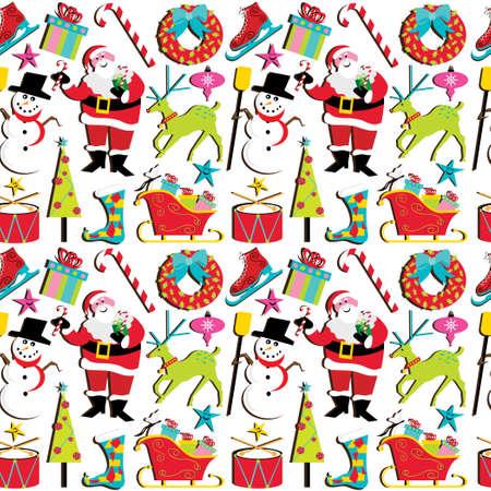 Weihnachten Retro Bilder Standard-Bild - 8245784