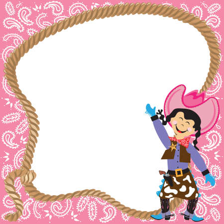 Cute Cowgirl Birthday Party Invitation Stock Vector - 8460680