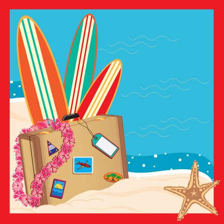 beach party: Tropical Vacation Invitation