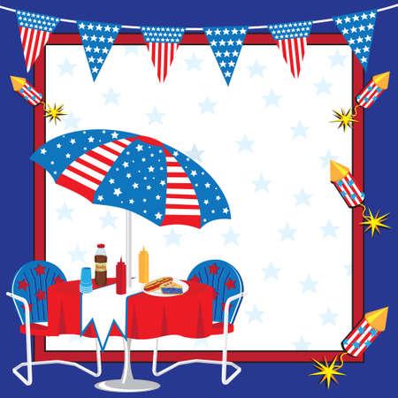 voter: Invitation � un 4 juillet ou tout parti patriotique Illustration