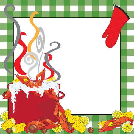 Crawfish Boil Invitation Illustration
